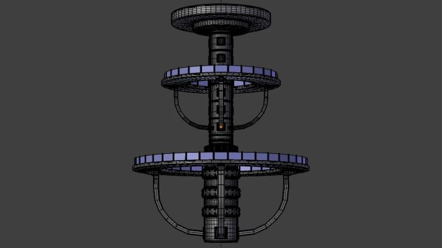 Futuristic Architecture Structure royalty-free 3d model - Preview no. 6