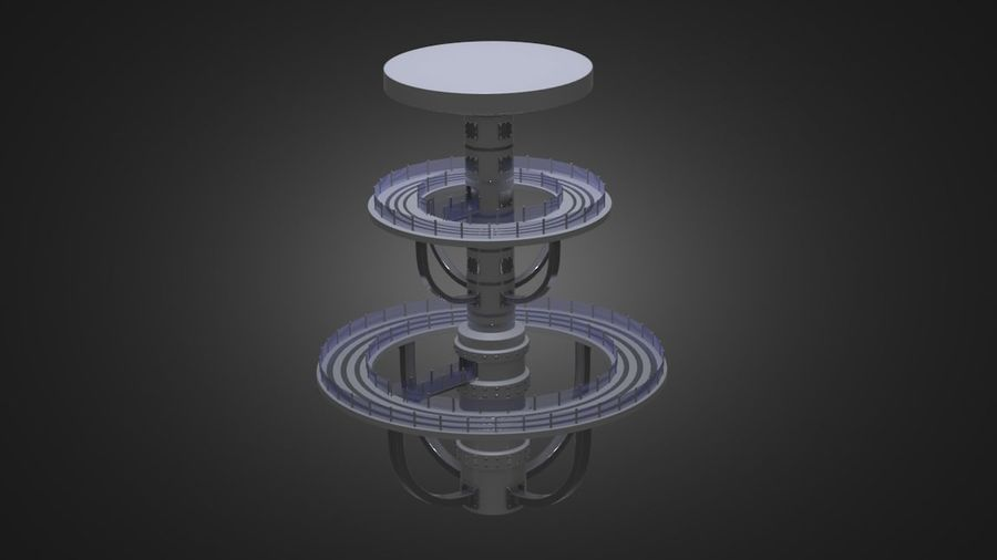 Futuristic Architecture Structure royalty-free 3d model - Preview no. 1
