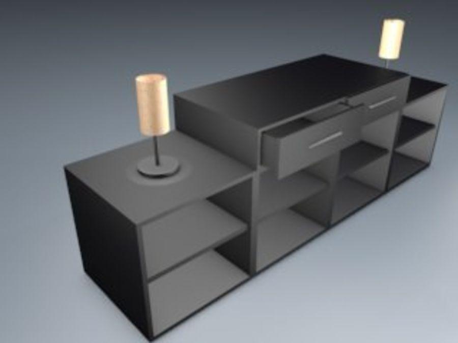 Mueble de sala royalty-free modelo 3d - Preview no. 2