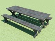 Piknik Masası ve Banklar 3d model
