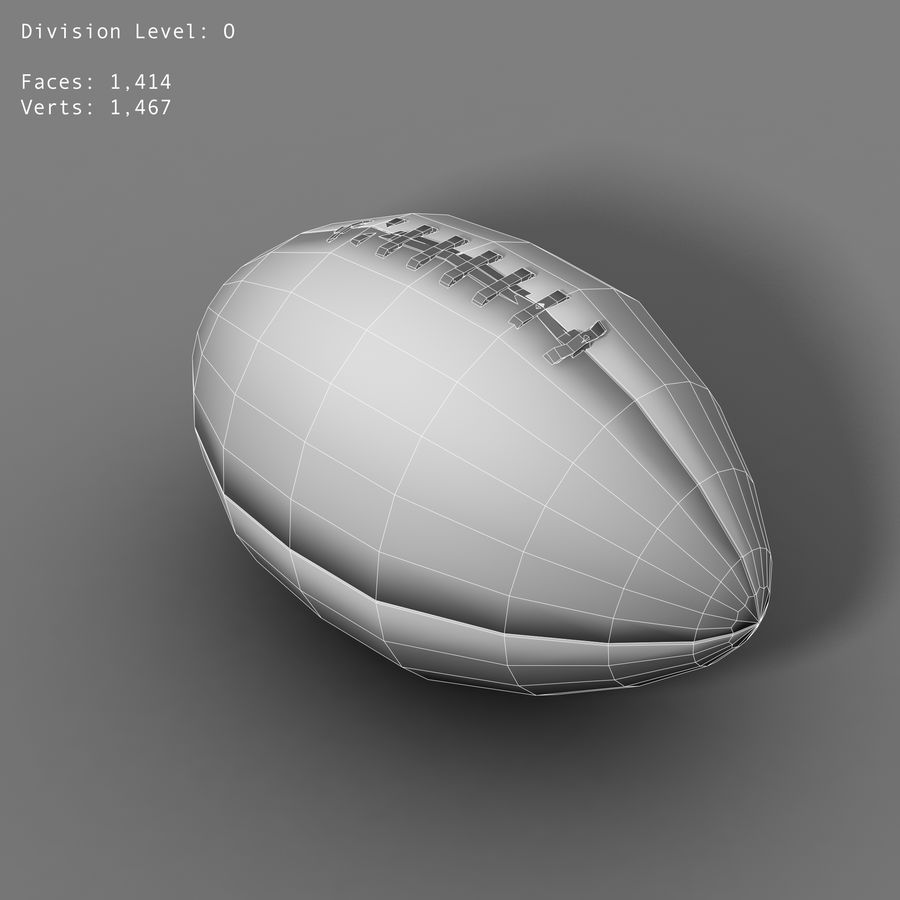 football royalty-free 3d model - Preview no. 3