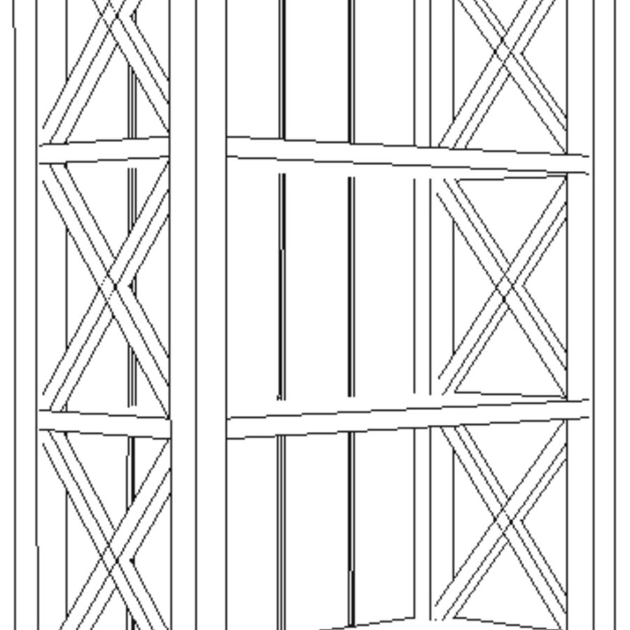 scaffale royalty-free 3d model - Preview no. 3