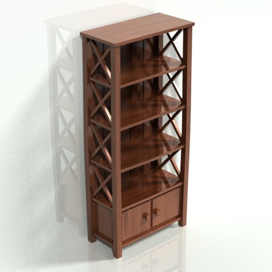 scaffale royalty-free 3d model - Preview no. 1