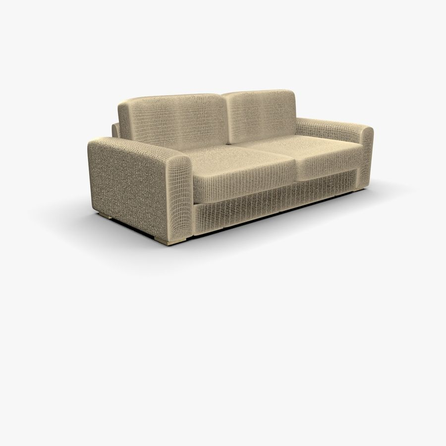 Couch (Sofa) royalty-free 3d model - Preview no. 2