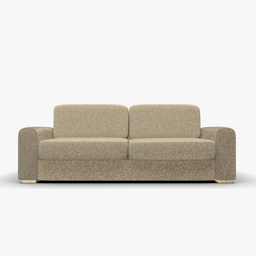 Couch (Sofa) royalty-free 3d model - Preview no. 3
