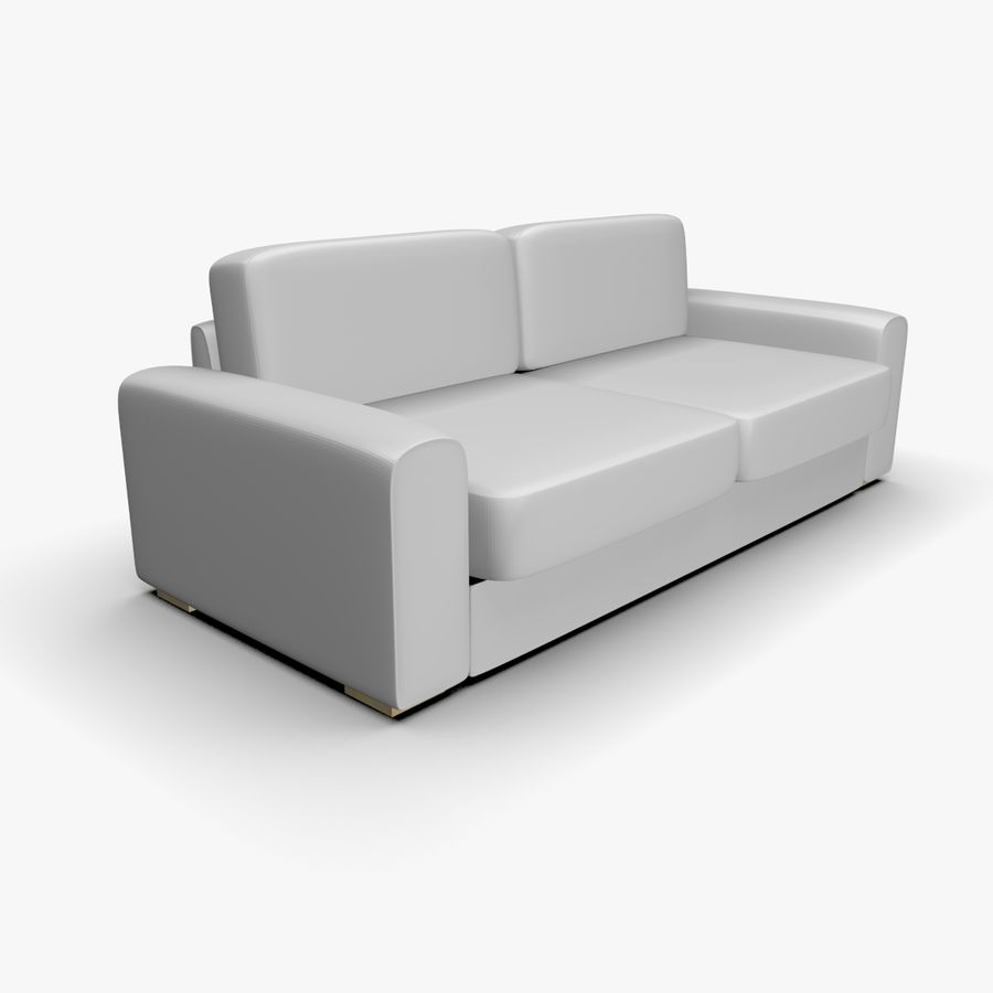 Couch (Sofa) royalty-free 3d model - Preview no. 4