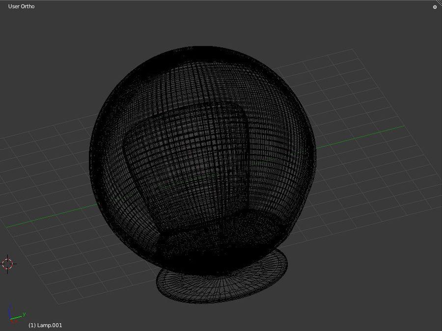 볼 체어 royalty-free 3d model - Preview no. 5