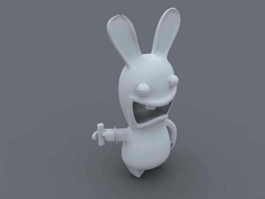 Raman Rabbit giocando a wii royalty-free 3d model - Preview no. 4