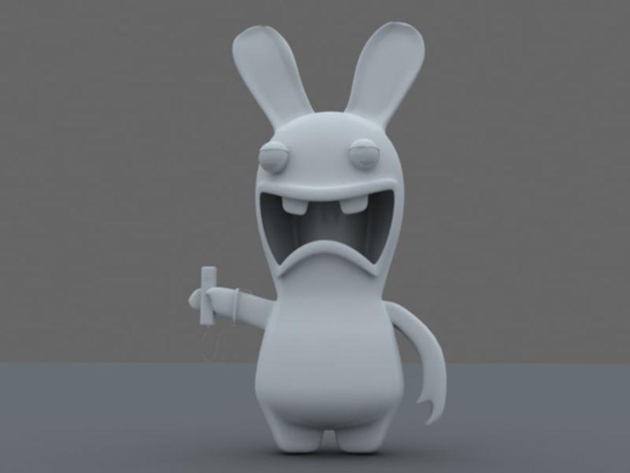 Raman Rabbit giocando a wii royalty-free 3d model - Preview no. 8