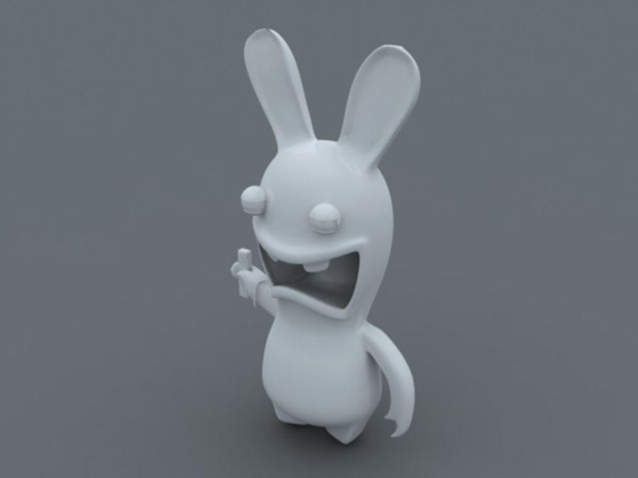 Raman Rabbit giocando a wii royalty-free 3d model - Preview no. 5