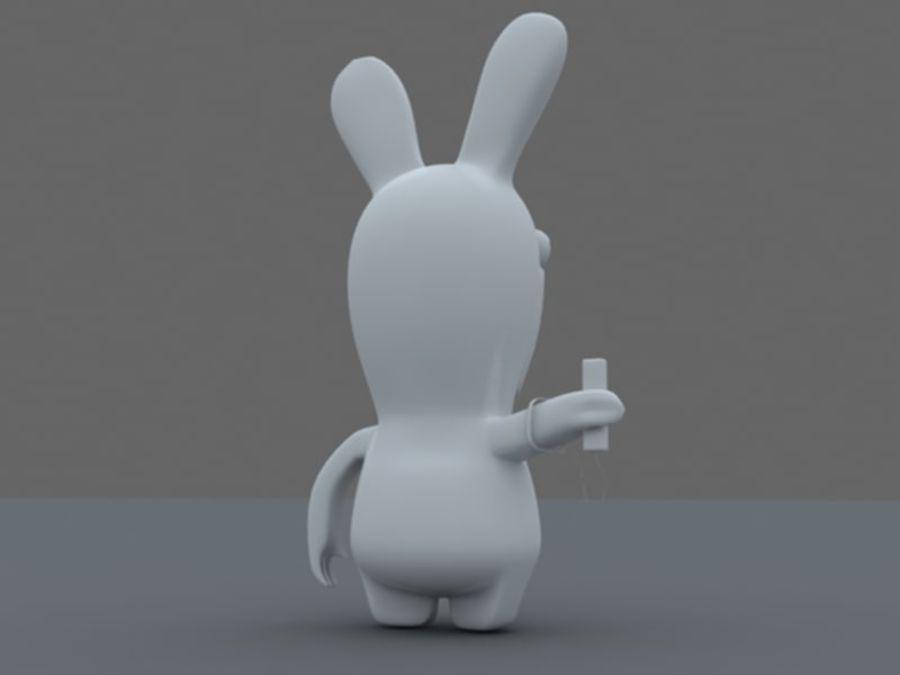 Raman Rabbit giocando a wii royalty-free 3d model - Preview no. 7