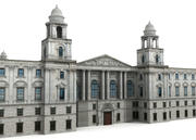 HM Treasury building 3d model