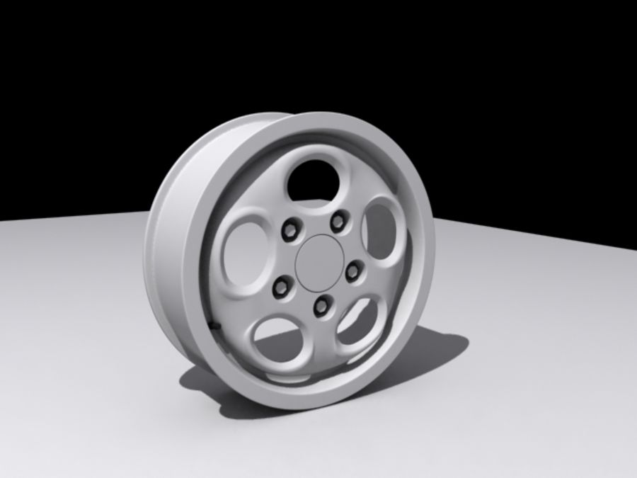Roda de discagem do telefone royalty-free 3d model - Preview no. 3