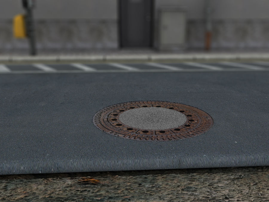 Scena di strada royalty-free 3d model - Preview no. 19