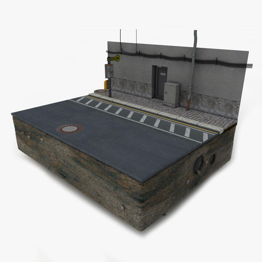 Scena di strada royalty-free 3d model - Preview no. 4