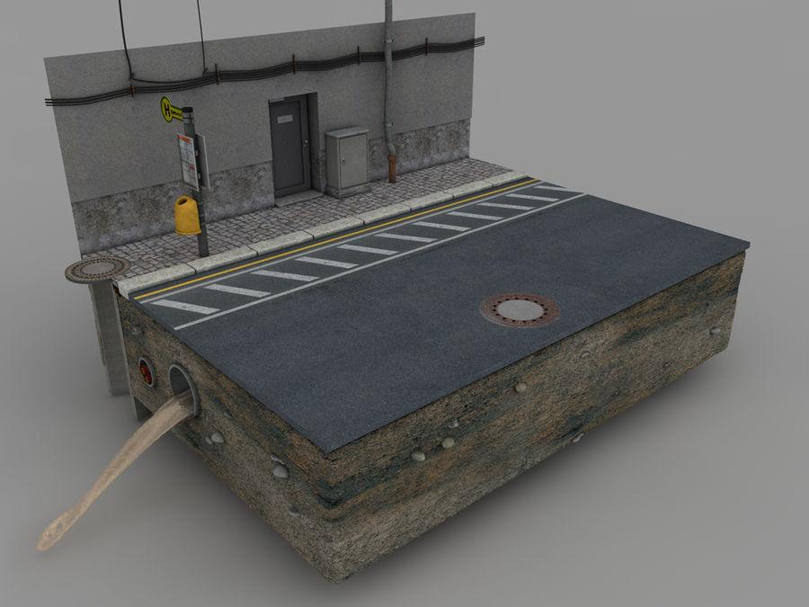 Scena di strada royalty-free 3d model - Preview no. 10