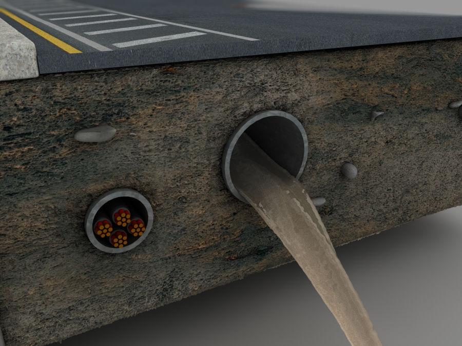 Scena di strada royalty-free 3d model - Preview no. 17