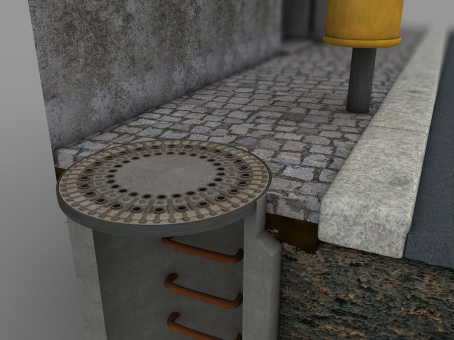 Scena di strada royalty-free 3d model - Preview no. 18