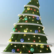 christmas tree comic 3d model