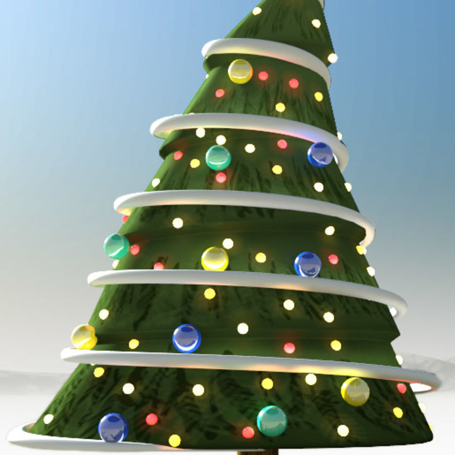 christmas tree comic royalty-free 3d model - Preview no. 1