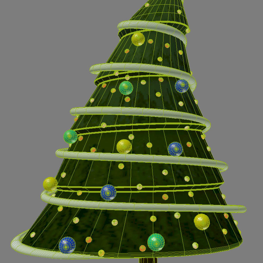 christmas tree comic royalty-free 3d model - Preview no. 3