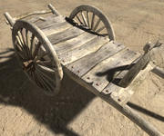Cart old 3d model