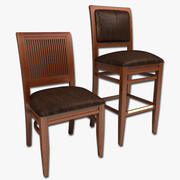 dining chair and bar stool 3d model
