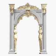 Portique Arcade En Plâtre Sculpté Cassique Baroque 3d model