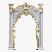 Portico Arcade Barock Cassic Carved Plaster 3d model