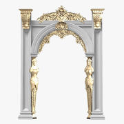 Portico Arcade Baroque Cassic Carved Plaster 3d model