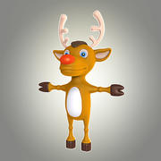 cartoon deer 1 3d model