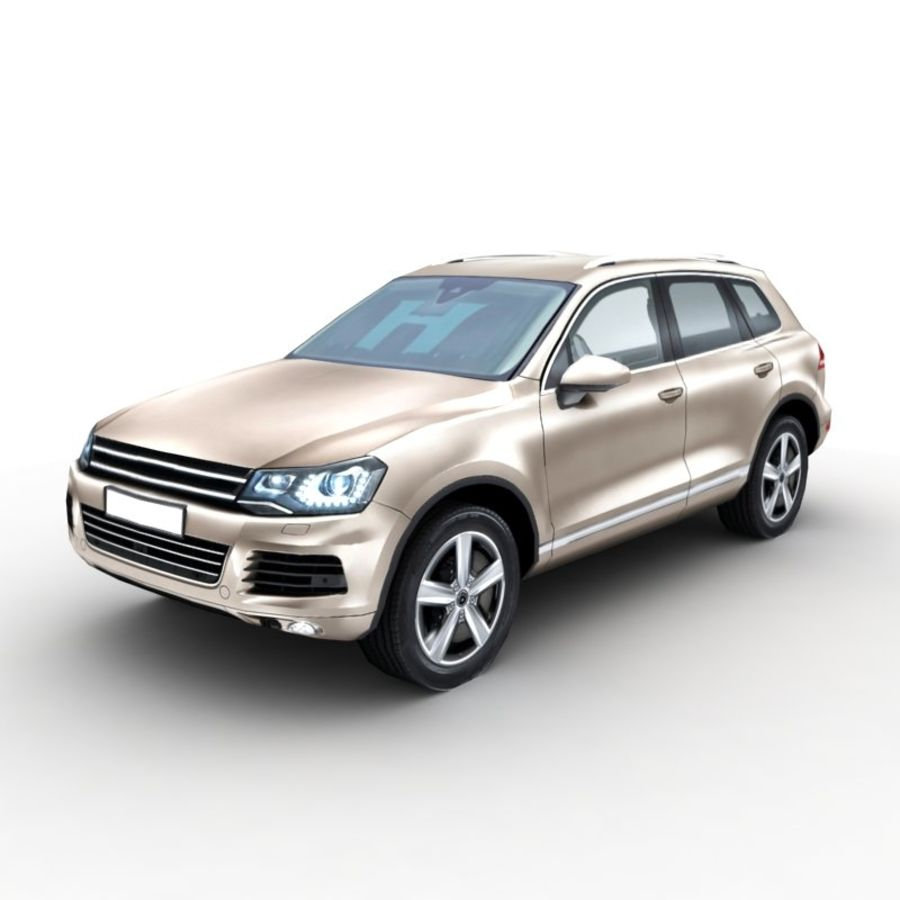 Volkswagen Touareg 2011 royalty-free 3d model - Preview no. 1