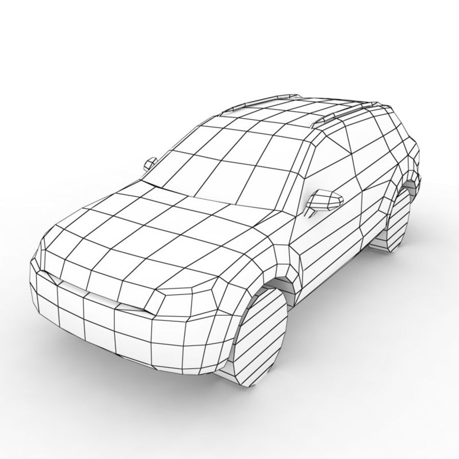 Volkswagen Touareg 2011 royalty-free 3d model - Preview no. 6