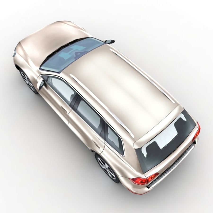 Volkswagen Touareg 2011 royalty-free 3d model - Preview no. 3