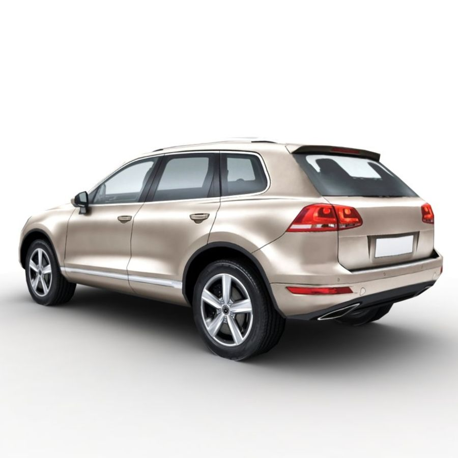 Volkswagen Touareg 2011 royalty-free 3d model - Preview no. 2