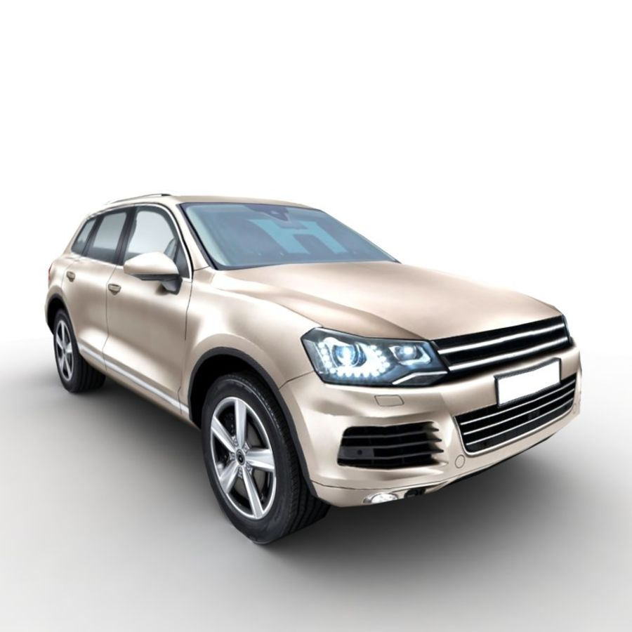 Volkswagen Touareg 2011 royalty-free 3d model - Preview no. 5