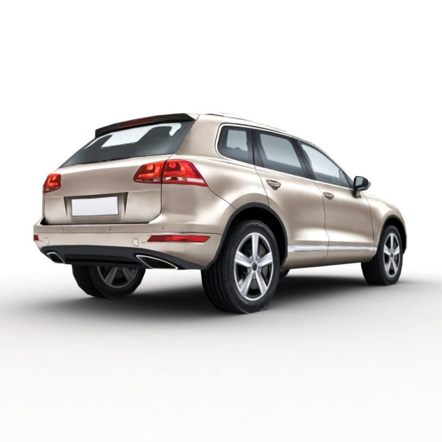 Volkswagen Touareg 2011 royalty-free 3d model - Preview no. 4