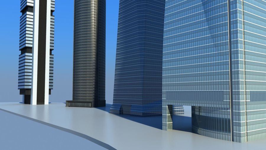 Madrid towers royalty-free 3d model - Preview no. 9