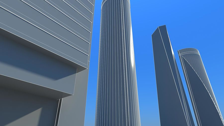 Madrid towers royalty-free 3d model - Preview no. 2