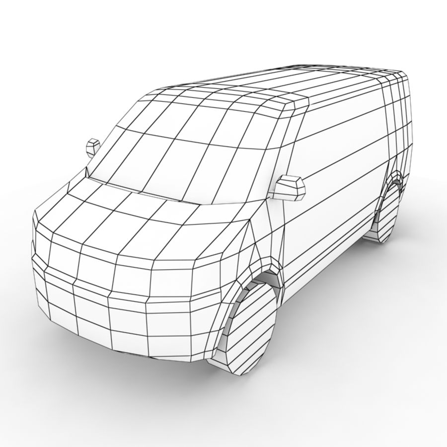 Volkswagen Transporter (2011) royalty-free 3d model - Preview no. 6