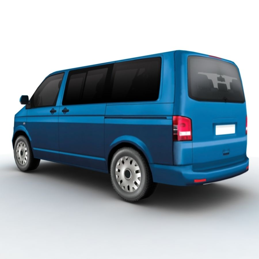 Volkswagen Transporter (2011) royalty-free 3d model - Preview no. 2
