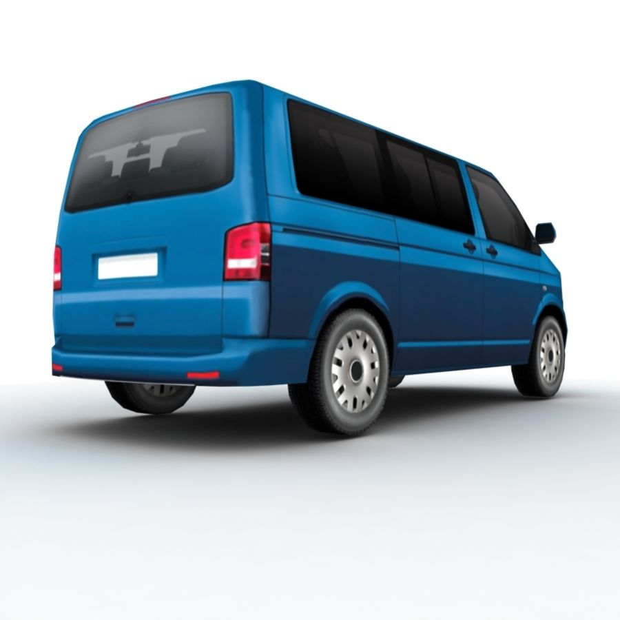 Volkswagen Transporter (2011) royalty-free 3d model - Preview no. 4