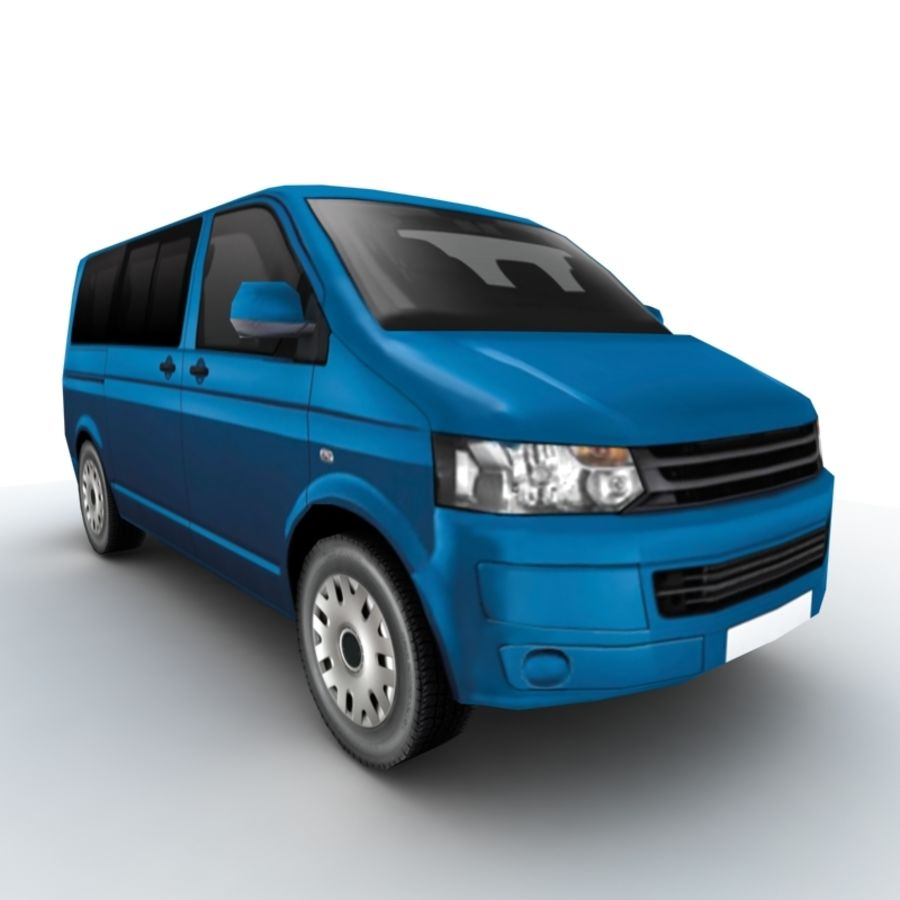 Volkswagen Transporter (2011) royalty-free 3d model - Preview no. 5