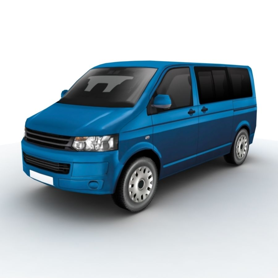 Volkswagen Transporter (2011) royalty-free 3d model - Preview no. 1