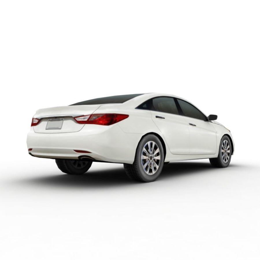 现代索纳塔2011 royalty-free 3d model - Preview no. 4