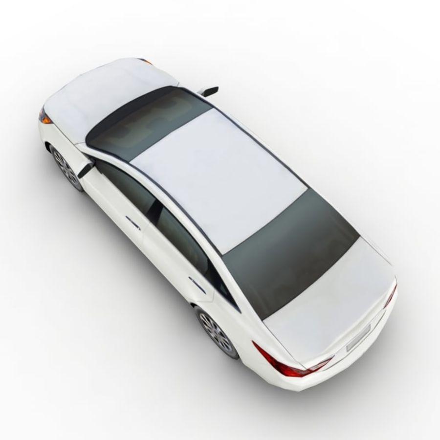 现代索纳塔2011 royalty-free 3d model - Preview no. 3
