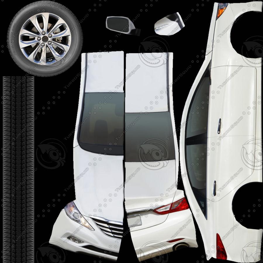 现代索纳塔2011 royalty-free 3d model - Preview no. 7
