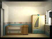 kids bedroom 01 3d model