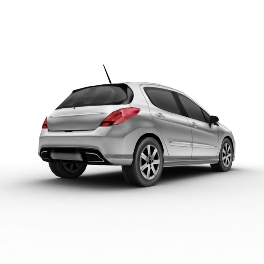 Peugeot 308 (2012) royalty-free 3d model - Preview no. 4