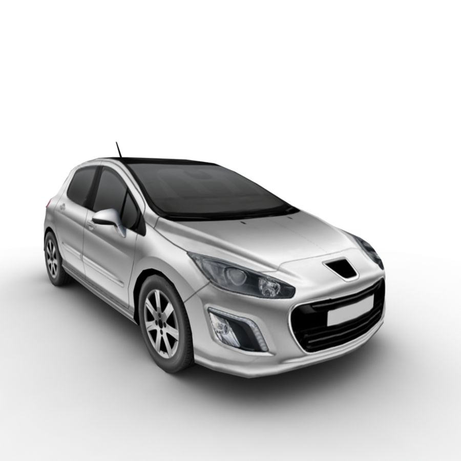 Peugeot 308 (2012) royalty-free 3d model - Preview no. 5
